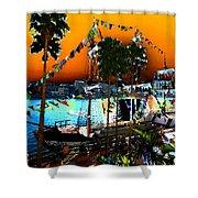Gasparilla Sunset Shower Curtain by David Lee Thompson