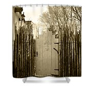 Gate Cross Shower Curtain