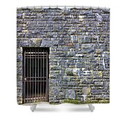 Gate Entrance On Stone Wall Shower Curtain