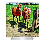Gate Horse Shower Curtain