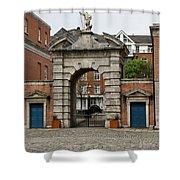 Gate Of Fortitude - Dublin Castle Shower Curtain