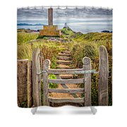 Gate To Holy Island  Shower Curtain