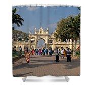 Gate To Maharaja's Palace India Mysore Shower Curtain