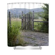 Gate To Peaceful Paradise Shower Curtain