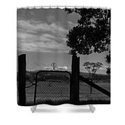 Gated Light Shower Curtain
