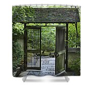 Gates Of Tranquility Shower Curtain by Sandra Bronstein