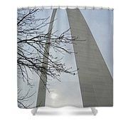 Gateway Arch In Spring Shower Curtain