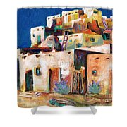 Gateway Into  The  Pueblo Shower Curtain by Frances Marino