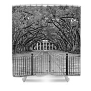 Gateway To The Old South Monochrome Shower Curtain by Steve Harrington