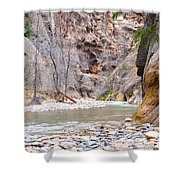 Gateway To The Zion Narrows Shower Curtain