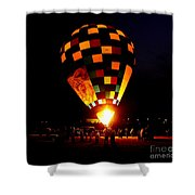 Gathering For Night Glow Shower Curtain