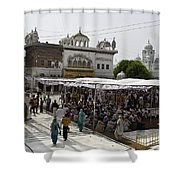 Gathering Inside The Golden Temple In Amritsar Shower Curtain