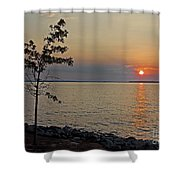 Gathering Light Shower Curtain