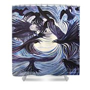 Gathering Of The Ravens Shower Curtain