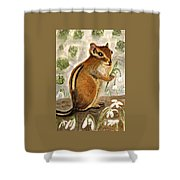 Gathering Snowdrops Shower Curtain
