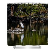 Gathering Spot Shower Curtain