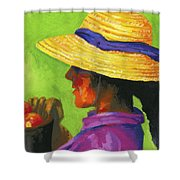 Gathering Tomatoes Shower Curtain