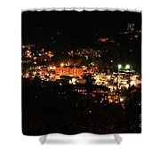 Gatlinburg At Night Shower Curtain by Nancy Mueller