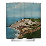Gay Head Cliffs Shower Curtain