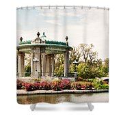 Gazebo At Forest Park St Louis Mo Shower Curtain