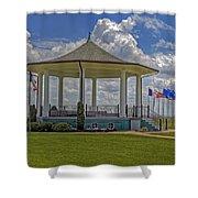 Gazebo At Fort Monroe Shower Curtain
