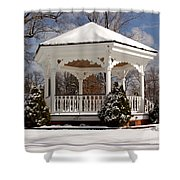 Gazebo At Olmsted Falls - 2 Shower Curtain