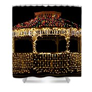 Gazebo Christmas Shower Curtain