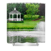 Gazebo Gardens IIi Shower Curtain