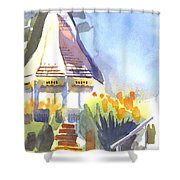 Gazebo On The City Square Shower Curtain