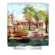 Gazebo Pond And Duck II Shower Curtain