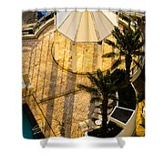 Gazebo Shadow Lines Shower Curtain