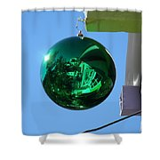 Gazing Ball Shower Curtain