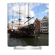 Gdynia Pirate Ship - Gdansk Shower Curtain