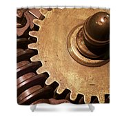Gear Wheels Shower Curtain
