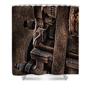Gears And Pulley Shower Curtain