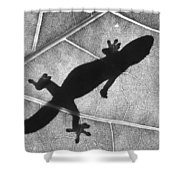 Gecko Shadow Shower Curtain
