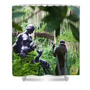 Goddess Of The Woods Shower Curtain