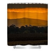 Geese At Sunset - 3 Shower Curtain