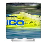 Geico Off Shore Racing Shower Curtain