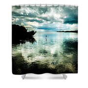 Geiger Key Shower Curtain by Karen Wiles