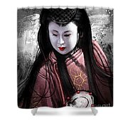 Geisha Kunoichi Shower Curtain