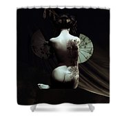 Geisha Shower Curtain by Shanina Conway