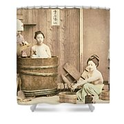 Geishas Bathing Shower Curtain