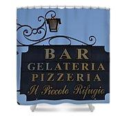 Gelateria Pizzeria Shower Curtain
