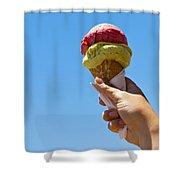 Gelati Ice Cream Cone Shower Curtain