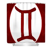 Gemini And Root Chakra Abstract Spiritual Artwork By Omaste Witk Shower Curtain