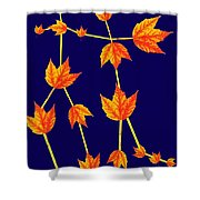 Gemini Constellation Composed By Maple Leaves Shower Curtain