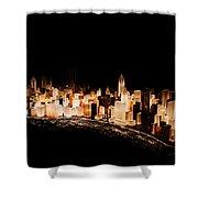 Gemstone City Shower Curtain