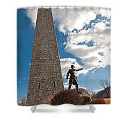Gen. John Stark At The Bennington Battle Monument Shower Curtain