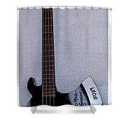 Gene Simmons Hatchet Bass Guitar Shower Curtain